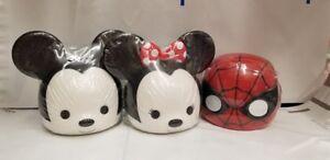 New Light-Up Mini Heads in a Dump Bin - Choice Mickey, Minnie or Spider Man