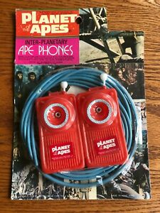 Vintage 1974 PLANET OF THE APES Inter-Planetary Phones in original packaging!