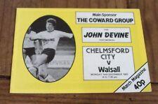 Chelmsford City v Walsall John Devine Testimonial December 1987
