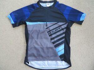 SUPER Voler blue+gray quarter-zip cycling jersey - adult / mens M