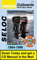 Yamaha Outboard Repair Service Shop Manual 2HP-250HP V4&V6 1984-1996 Download+CD