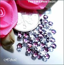 30 Swarovski Ss10 Amethyst Vintage Rose MONTEES Sew on Crystals 10ss Purple