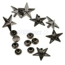 20x Metal Star Punk Rivets Studs Spikes for Belt Bag Decoration Gray 13mm