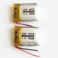 2 pcs 3.7V 300mAh Lipo Rechargeable Battery 802025 for remote control speaker