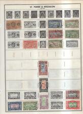 St Pierre & Miquelon On Harris Album Pages 1892 To 2001