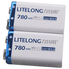 2 PILES RECHARGEABLE Accu Battery Pile Accus 9V - Li-ion 780Mah