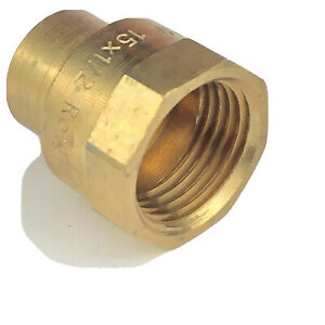 """Endex N2/4270G Straight Female Iron Connector 15mm x 1/2""""BSP Pack of 10."""