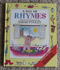 A Day of Rhymes / Rhymes for Bedtime - Sarah Pooley Flip Book Hardcover US Ship