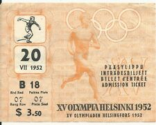 XV Olympics - 1952 Helsinki Track and Field Ticket
