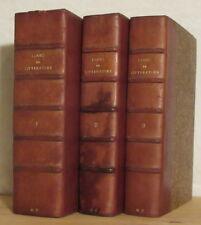 LA HARPE COURS DE LITTÉRATURE ANCIENNE ET MODERNE FIRMIN DIDOT 3 VOLS 1847
