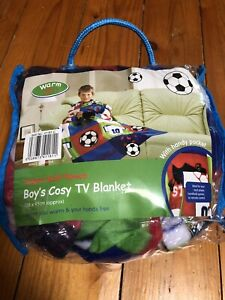Boys Cosy TV Blanket - Football Design