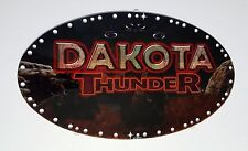 "NEW DAKOTA THUNDER SLOT MACHINE GLASS IGT TOPPER 10.125"" X 17.625"" 85387300"