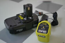 New P102 Ryobi 18v Compact Lithium ion Battery & P119 18 volt ONE+ Charger