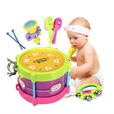For Kids Baby Gift Roll Drum Musical Instruments Band Kit Children Toy Gift Set