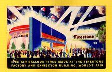 Firestone See Air Balloon tires made,Chicago 1934 World Fair Century of Progress
