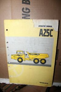 Vintage Volvo A25C Articulated Dump Truck Operator's Manual Rare Service