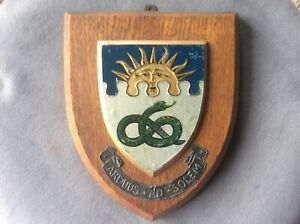 Vintage Manchester University Wooden Wall Plaque Armorial Shield