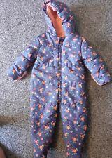 Bebé Niñas Mothercare Traje para nieve intregated Guantes 9-12 meses Excelente Con