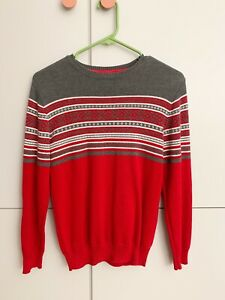Gymboree | Red & Gray Christmas Sweater - BOYS Large (10-12) VEUC Never Used!