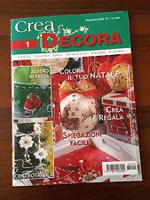 CREA E DECORA - N.1 2008 - COLORA IL TUO NATALE - CREA E REGALA