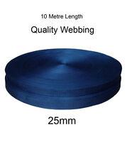 25mm Black Textured Weave Webbing Belting Strap Tape x 10 meters