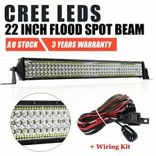 22inch 5 Rows CREE LED Work Light Bar Flood Spot Driving Offroad 25'' + Wiring