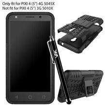 Cover e custodie nero Per Alcatel Pixi 4 in silicone/gel/gomma per cellulari e palmari