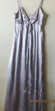 Truese, size 10, grey silk, formal dress, worn once EUC