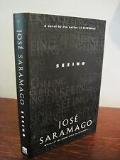 1st/1st Printing SEEING Jose Saramago NOBEL PRIZE Modern CLASSIC Fiction
