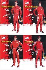 Cartoline Ferrari FDA Jules Bianchi, Raffaele Marciello, Stroll e Maisano F1
