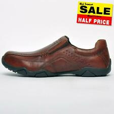 SALE - Red Tape Derwent Leather Mens Casual Smart Slip On Loafer Shoes