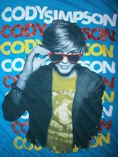 CODY SIMPSON T SHIRT Sunglasses Cute Teen Pop Heartthrob Surfboard Turquoise SM