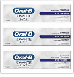 Lot de 3 Oral B 3D withe PERFECTION blancheur rapide Dentifrice  75 ml