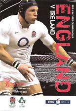 England v Ireland 2010 Rugby Programme 27 February - Twickenham