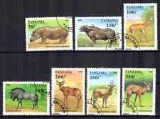 Animaux faune sauvage Tanzanie (1) série complète 7 timbres oblitérés