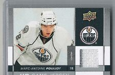 09-10 2009-10 UPPER DECK MARC-ANTOINE POULIOUT UD GAME JERSEY SERIES 2 MP OILERS