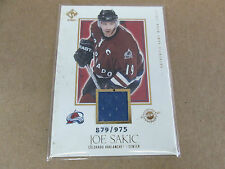 2003 Private Stock Joe Sakic Colorado Avalanche Game Used Jersey #'d 879/975