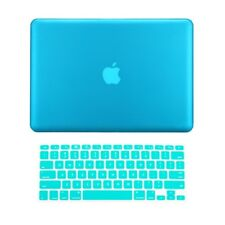 """2 in 1 Rubberized AQUA BLUE Case for Macbook PRO 13"""" A1278 with Keyboard Cover"""