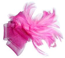 CHAPEAU pince de cérémonie femme peigne plumes rose mariage sorties habillées
