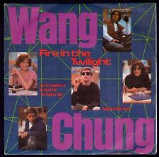 "WANG CHUNG - SPAIN 7"" AM 1985 - FIRE IN THE TWILIGHT - BREAKFAST CLUB SOUNDTRACK"