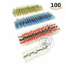 100 Pack 4 Sizes Waterproof Solder Sleeve Heat Shrink Tube Terminal Connectors