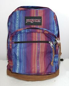 JANSPORT RIGHT PACK (WORLD ACAPULCO) CANVAS LEATHER BACKPACK MSRP $60 NEW w/TAG!