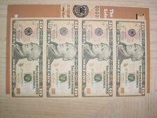 2004A $10 Atlanta F Star * Uncut Sheet Of 4