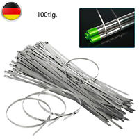 100x Edelstahl Kabelbinder Metallkabelbinder Kabelband Stahlband Hitzeschutzband