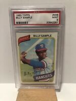 1980 Topps Billy Sample - Texas Rangers - All-Star Rookie Cup - PSA 9