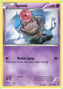 Pokemon TCG XY Fates Collide Spoink 30/124 - Brand New Genuine