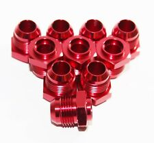 10PC 10AN AN-10 Male Thread Straight  Flare Aluminum Anodized Fitting RED