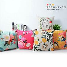 AEROHAVEN Set of 5 Designer Decorative Cushion Covers (16x16in, 24x24in) - CC122