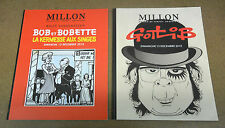 2 CATALOGUES DE VENTE - MILLION - GOTLIB + BOB ET BOBETTE - 13/12/2015 ( TBE )