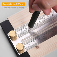 T-type Hole Ruler Stainless Steel Woodworking Scribing Gauge Measuring Tool
